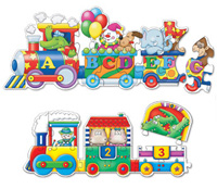 Puzzle Doubles Giant ABC & 123 Train Educational Floor Puzzle
