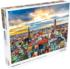 Colorful City Sunset Skyline / Cityscape Jigsaw Puzzle