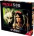 Warrior Princess Wolves Jigsaw Puzzle