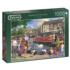 Sunday on the Canal Boats Jigsaw Puzzle