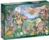 Owls in the Wood Flowers Jigsaw Puzzle