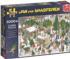 Christmas Tree Market Winter Jigsaw Puzzle