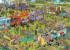 BBQ Party/Food Truck Fest Cartoons Jigsaw Puzzle