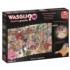 WASGIJ Dest.#18, Fast Food Frenzy Cartoons Jigsaw Puzzle