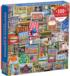 Snapshots of America Cultural Art Jigsaw Puzzle