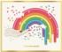 Jonathan Adler Rainbow Hand Abstract Shaped Puzzle