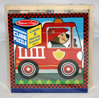 Vehicles Cube Puzzle Vehicles Wooden Jigsaw Puzzle