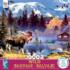 Moose Cabin Animals Jigsaw Puzzle