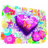 Real 3D Breakthrough - Hearts and Flowers Flowers 3D Puzzle