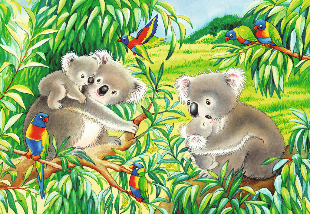 Sweet Koalas and Pandas Animals Jigsaw Puzzle