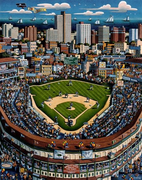 Chicago Wrigley Field Sports Jigsaw Puzzle