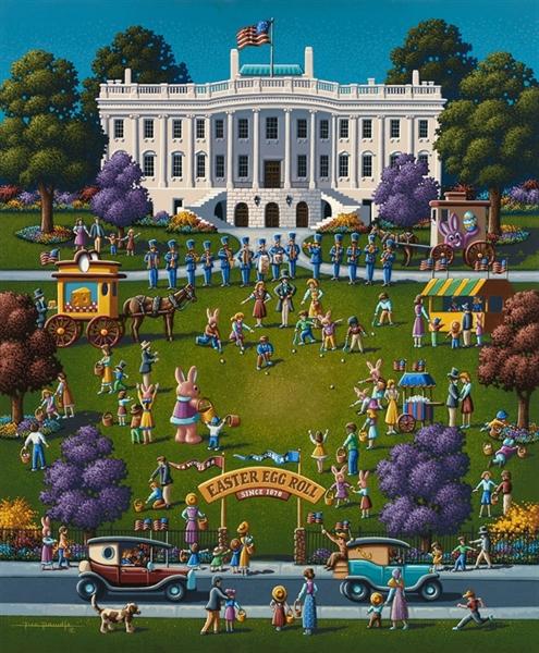 Easter Egg Roll Americana & Folk Art Jigsaw Puzzle