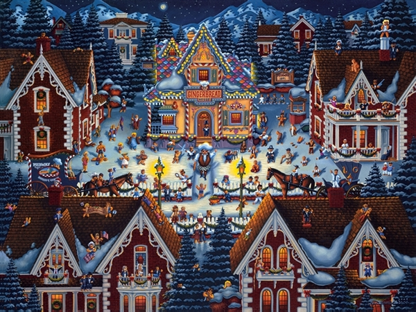 Dowdle - Gingerbread House, 1000 Christmas Jigsaw Puzzle