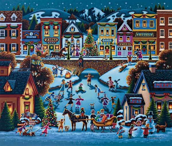 Dowdle - Hometown Christmas, 1000 Christmas Jigsaw Puzzle