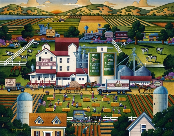 Dowdle - Lehi Roller Mills United States Jigsaw Puzzle