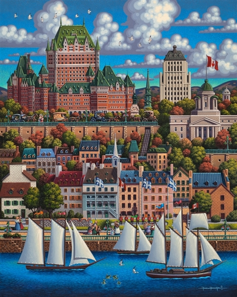 Quebec City Boats Jigsaw Puzzle