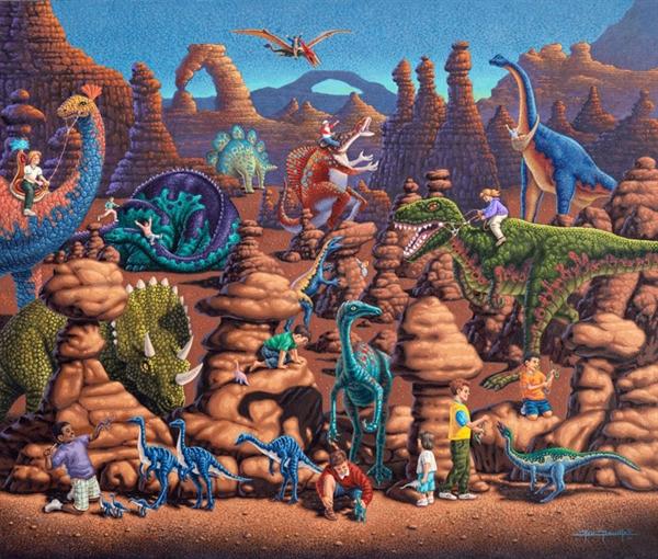 Dowdle - Dinosaur Games Jigsaw Puzzle