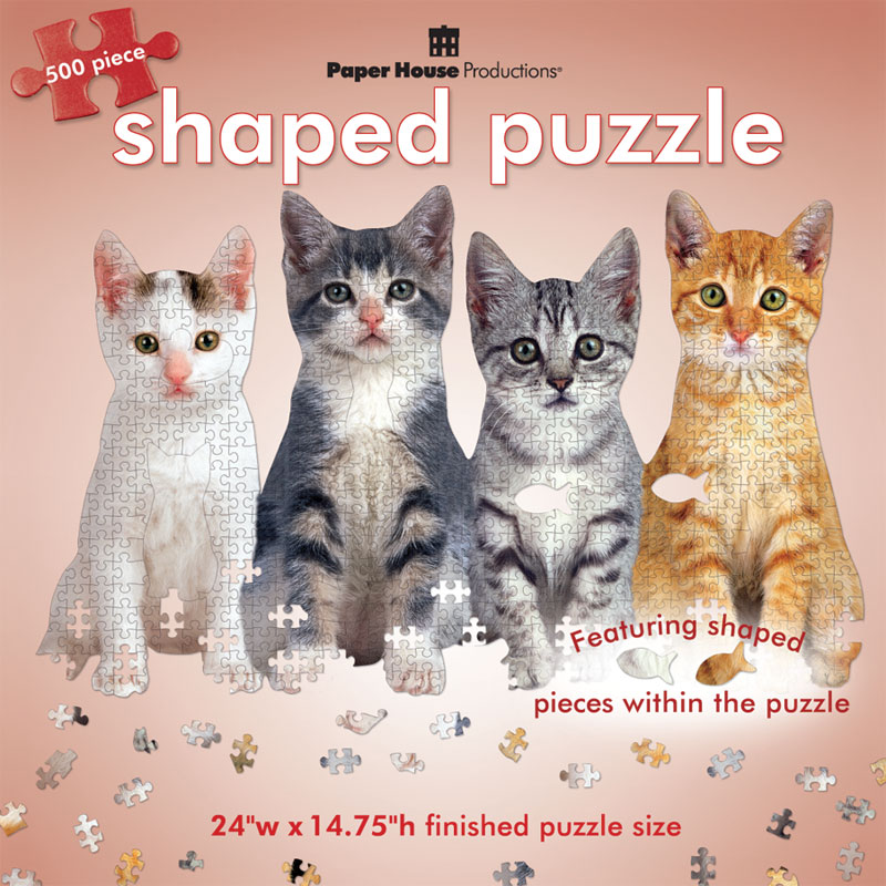 Row of Kittens Cats Jigsaw Puzzle