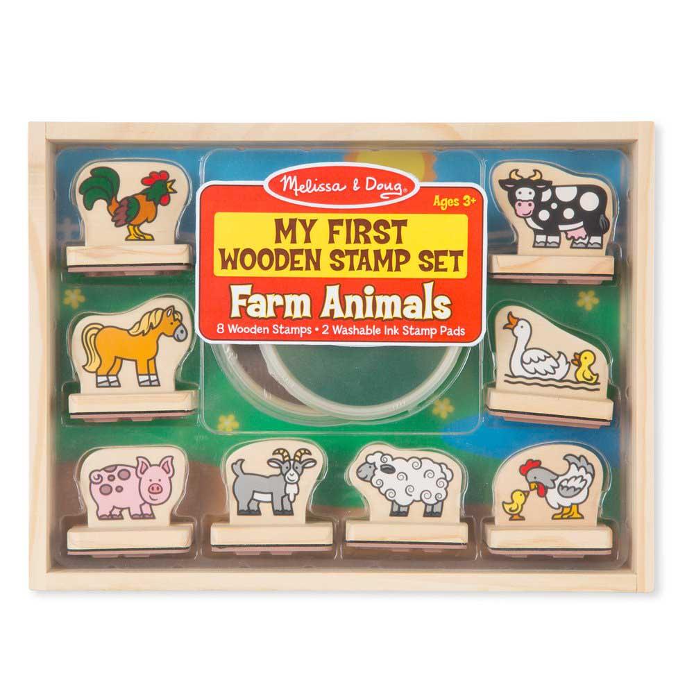 My First Wooden Stamp Set - Animals