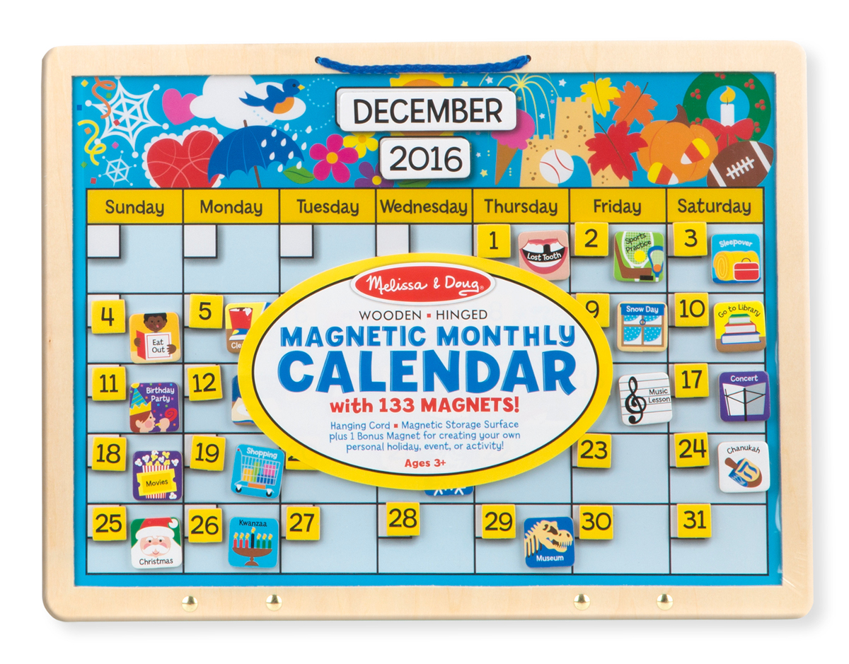 Weekly Calendar Magnet : Monthly magnetic calendar puzzlewarehouse
