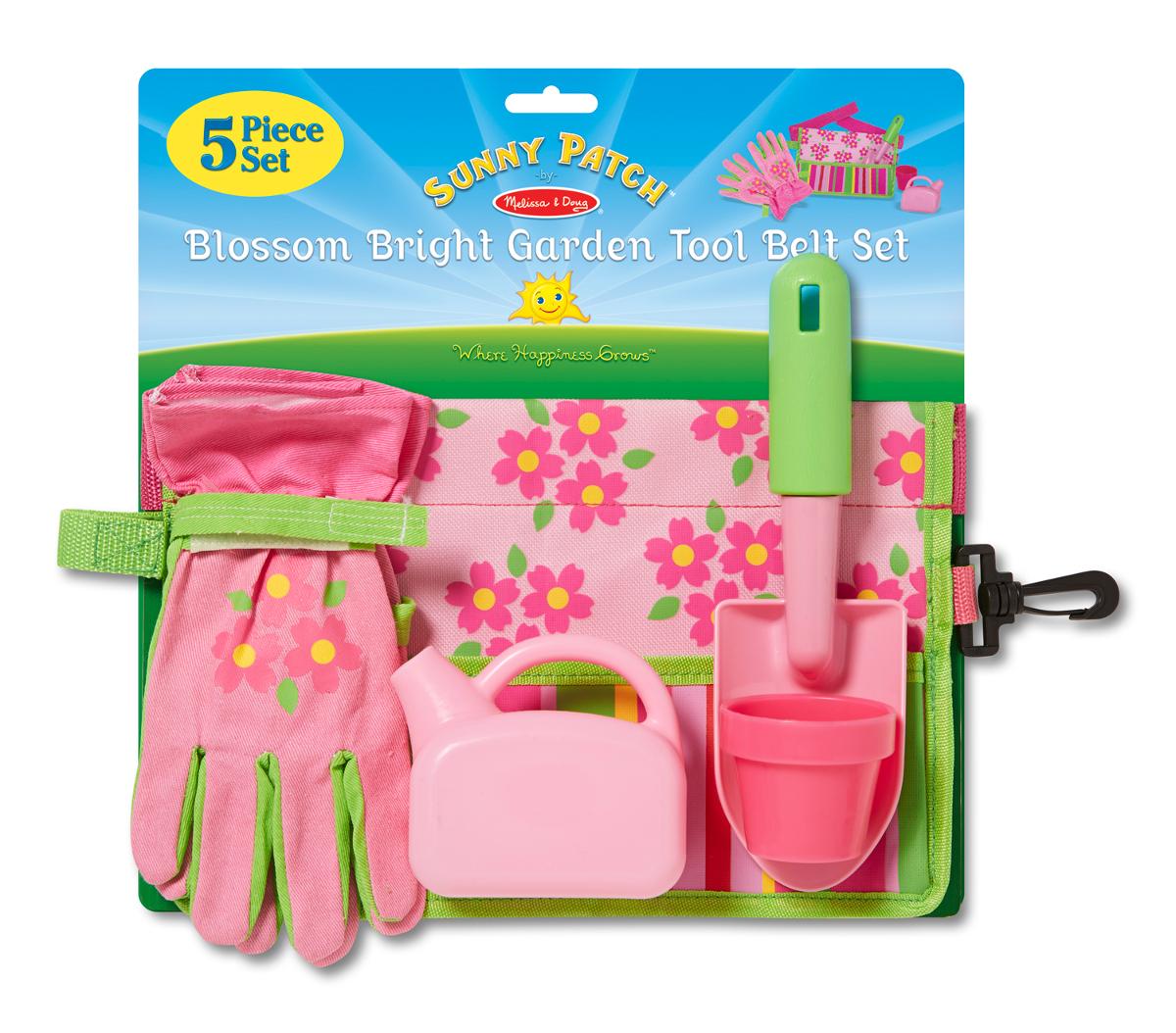 Blossom bright garden tool belt set for Gardening tools crossword
