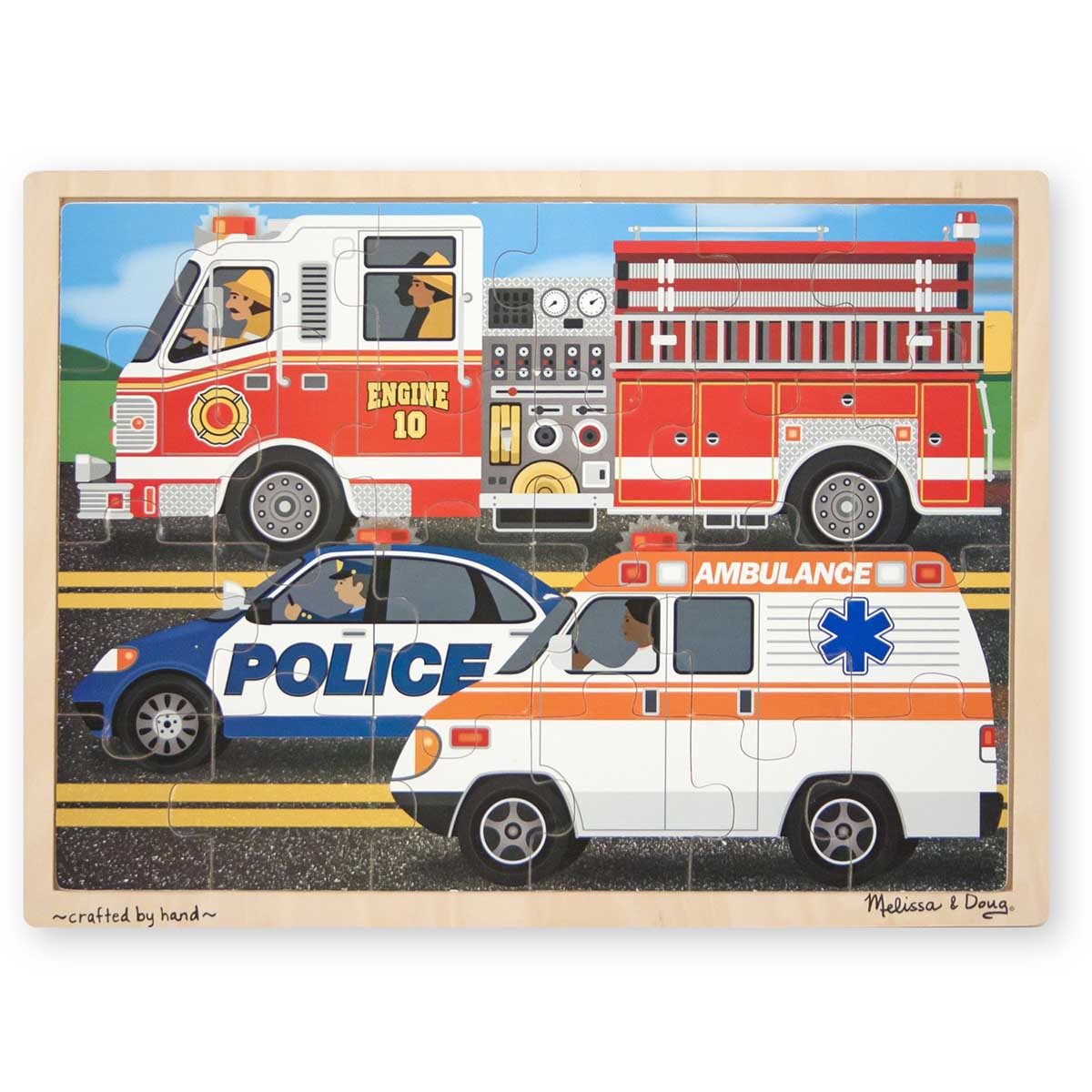 To The Rescue! Vehicles Jigsaw Puzzle
