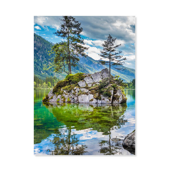 Evergreen Reflections Mountains Jigsaw Puzzle