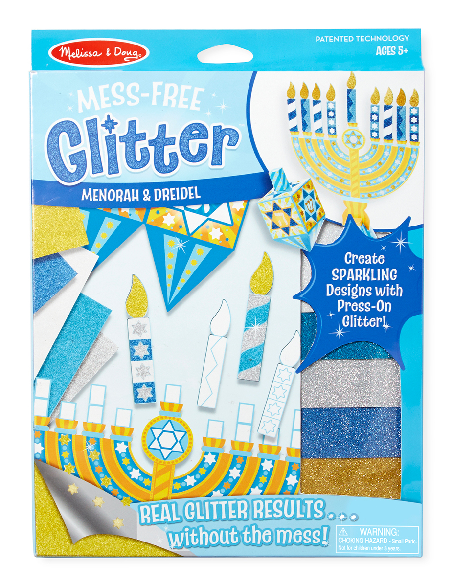 Mess-Free Glitter - Menorah & Dreidel