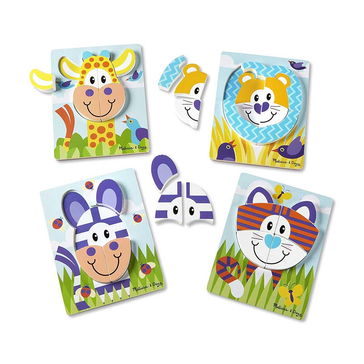 Safari Jigsaw Puzzle Set Animals Children's Puzzles