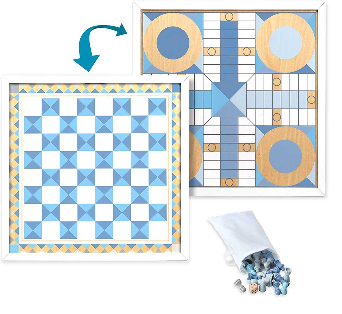 Chess & Pachisi - Blue Father's Day