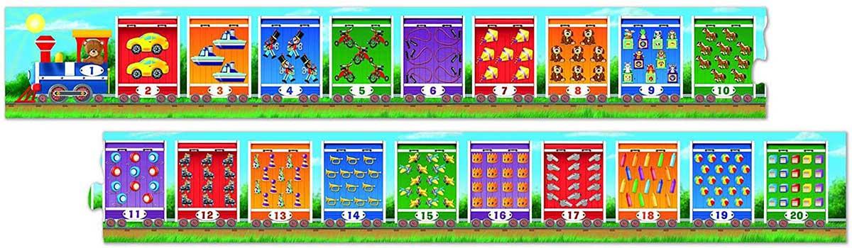 Number Train Alphabet/Numbers Floor Puzzle