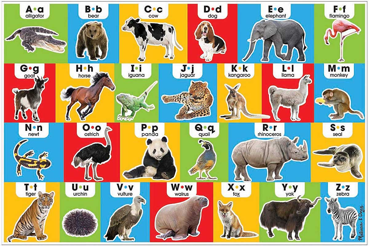 Animal Alphabet Animals Jigsaw Puzzle