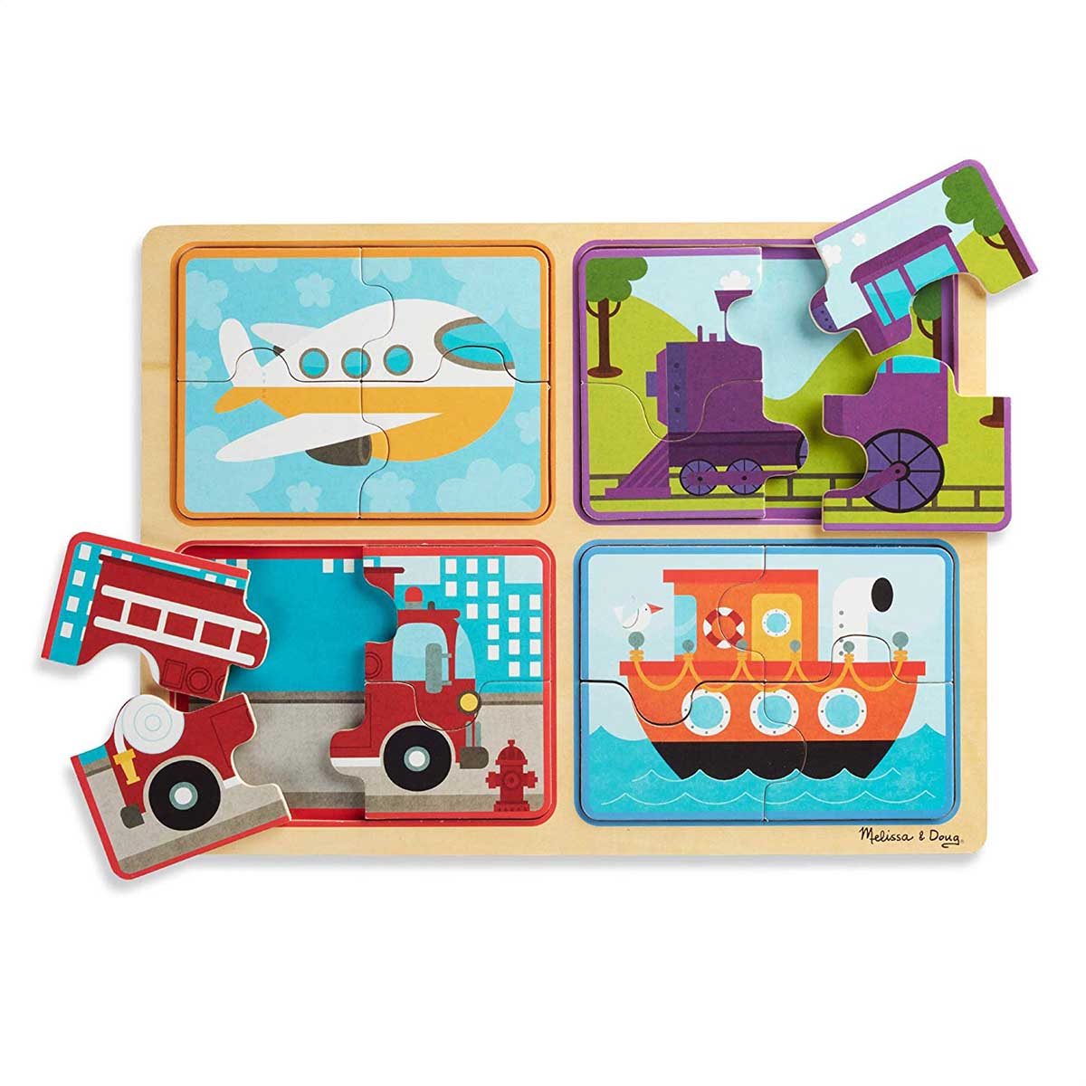 Green Start Wooden Puzzle - Ready, Set, Go Planes Jigsaw Puzzle