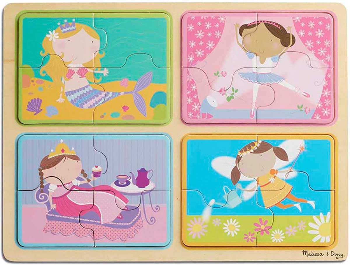 Green Start Wooden Puzzle - Little Princess Princess Jigsaw Puzzle