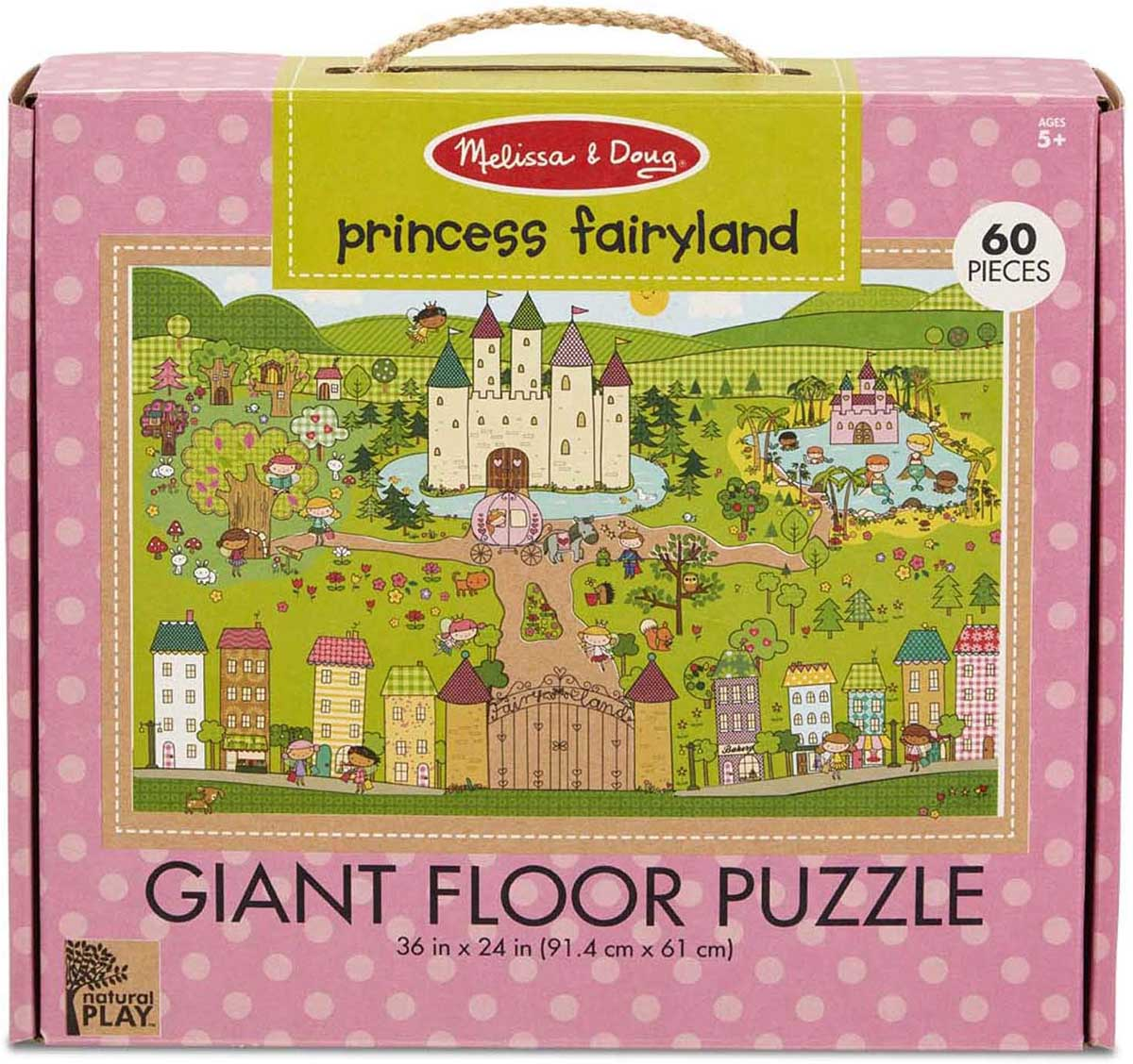 Green Start Giant Floor Puzzle - Princess Fairyland Castles Jigsaw Puzzle