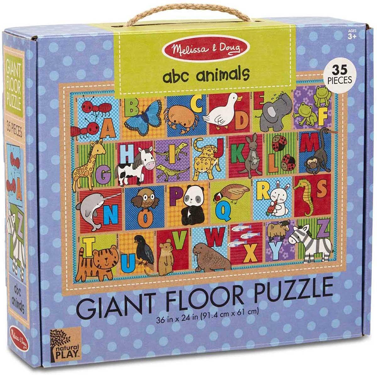 Green Start Giant Floor Puzzle - ABC Animals Animals Floor Puzzle