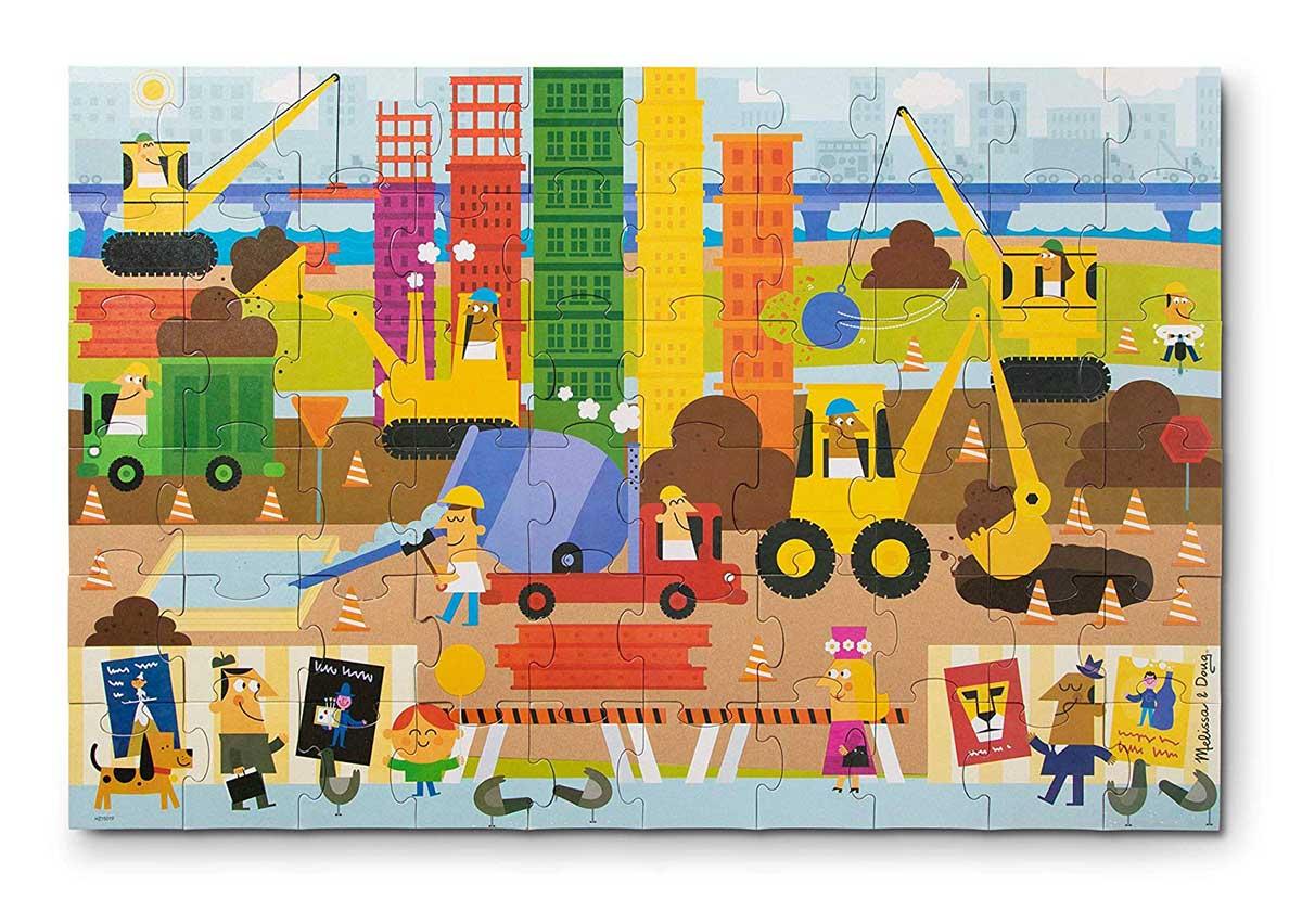 Big Builder Vehicles Floor Puzzle