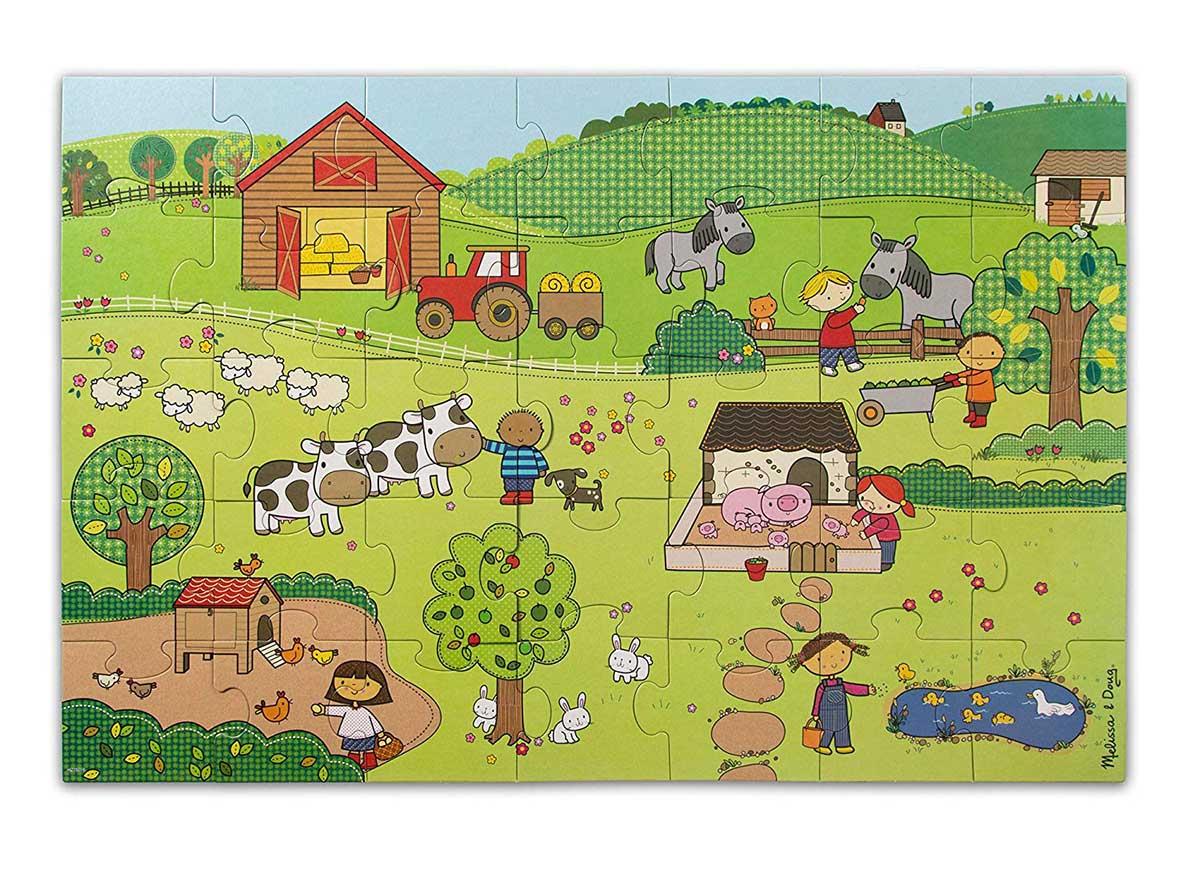 On The Farm Farm Floor Puzzle