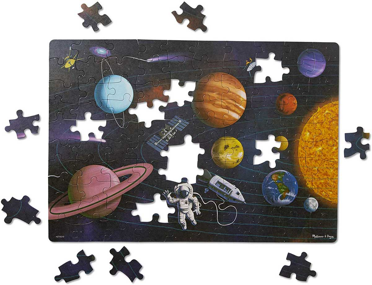 Green Start Jigsaw Puzzle - Outer Space Space Jigsaw Puzzle