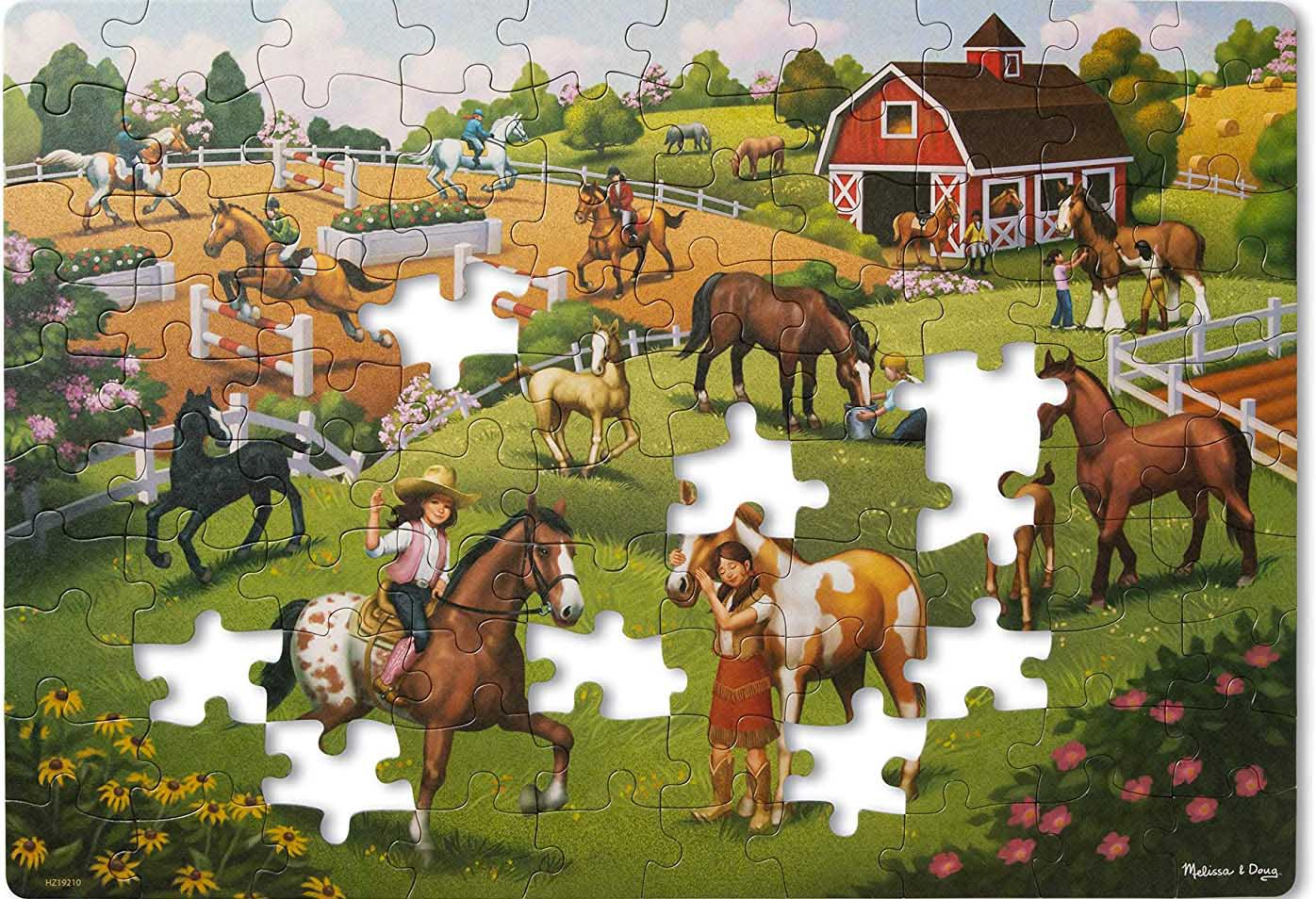 Green Start Jigsaw Puzzle - Horse Adventure Horses Jigsaw Puzzle