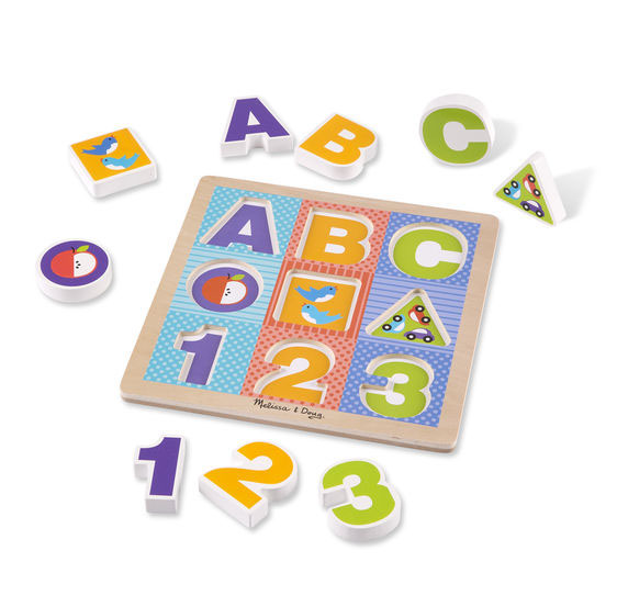 ABC/123 Chunky Puzzle Alphabet/Numbers Children's Puzzles