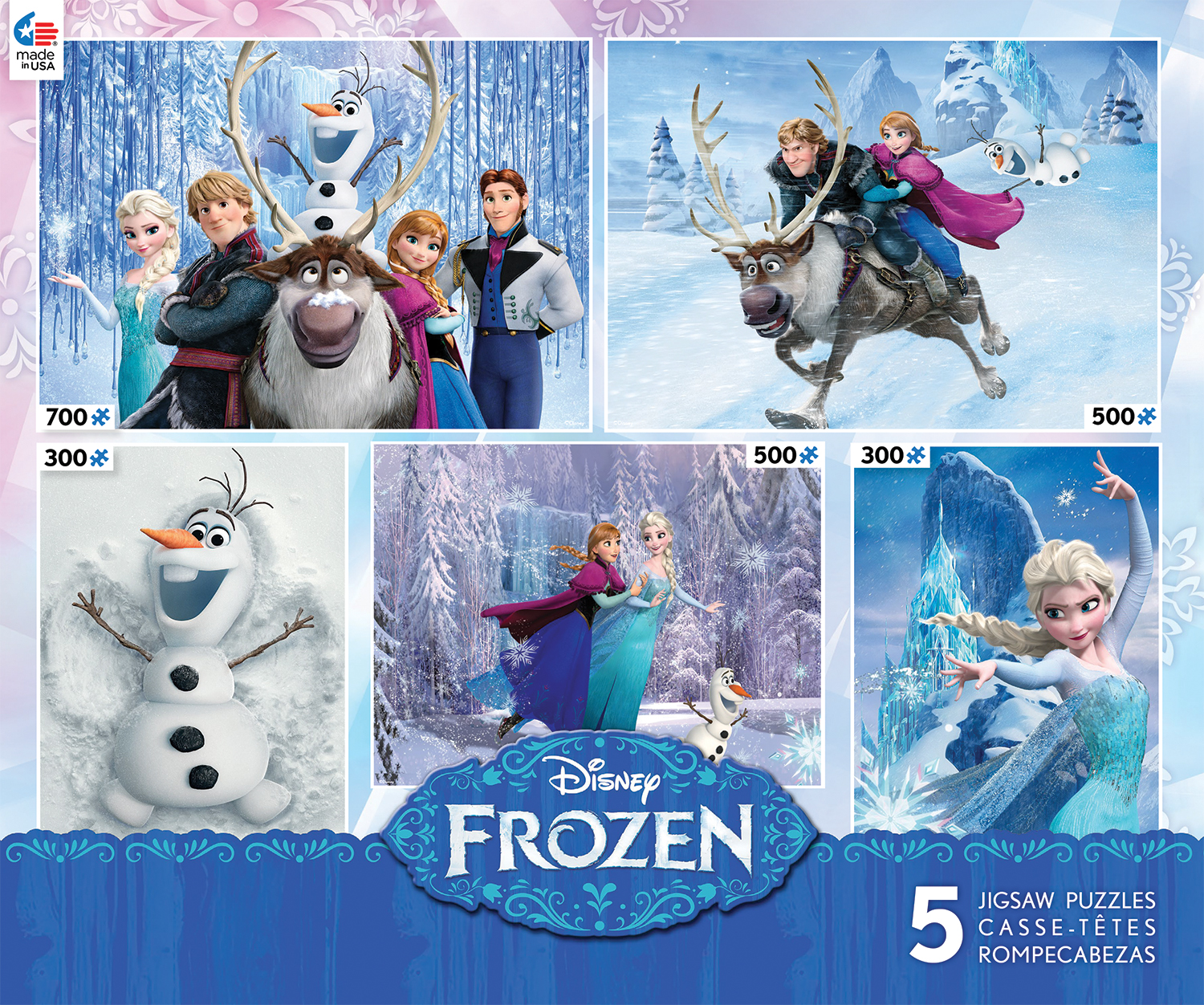 Frozen 5 in 1 (Disney) - Scratch and Dent Disney Jigsaw Puzzle