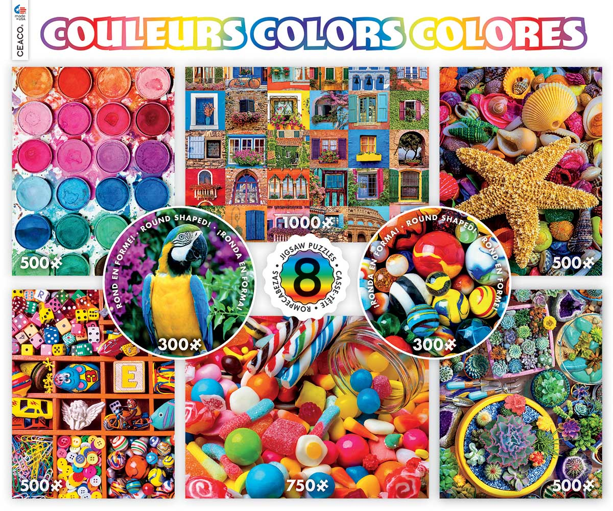 Colors 8-in-1 Everyday Objects Jigsaw Puzzle