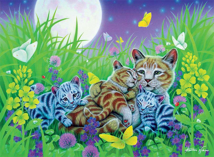 Family Cat (Furry Friends) Cats Jigsaw Puzzle