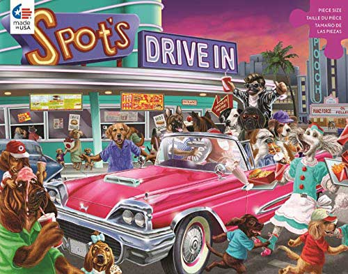 Drive-In Dogs Jigsaw Puzzle