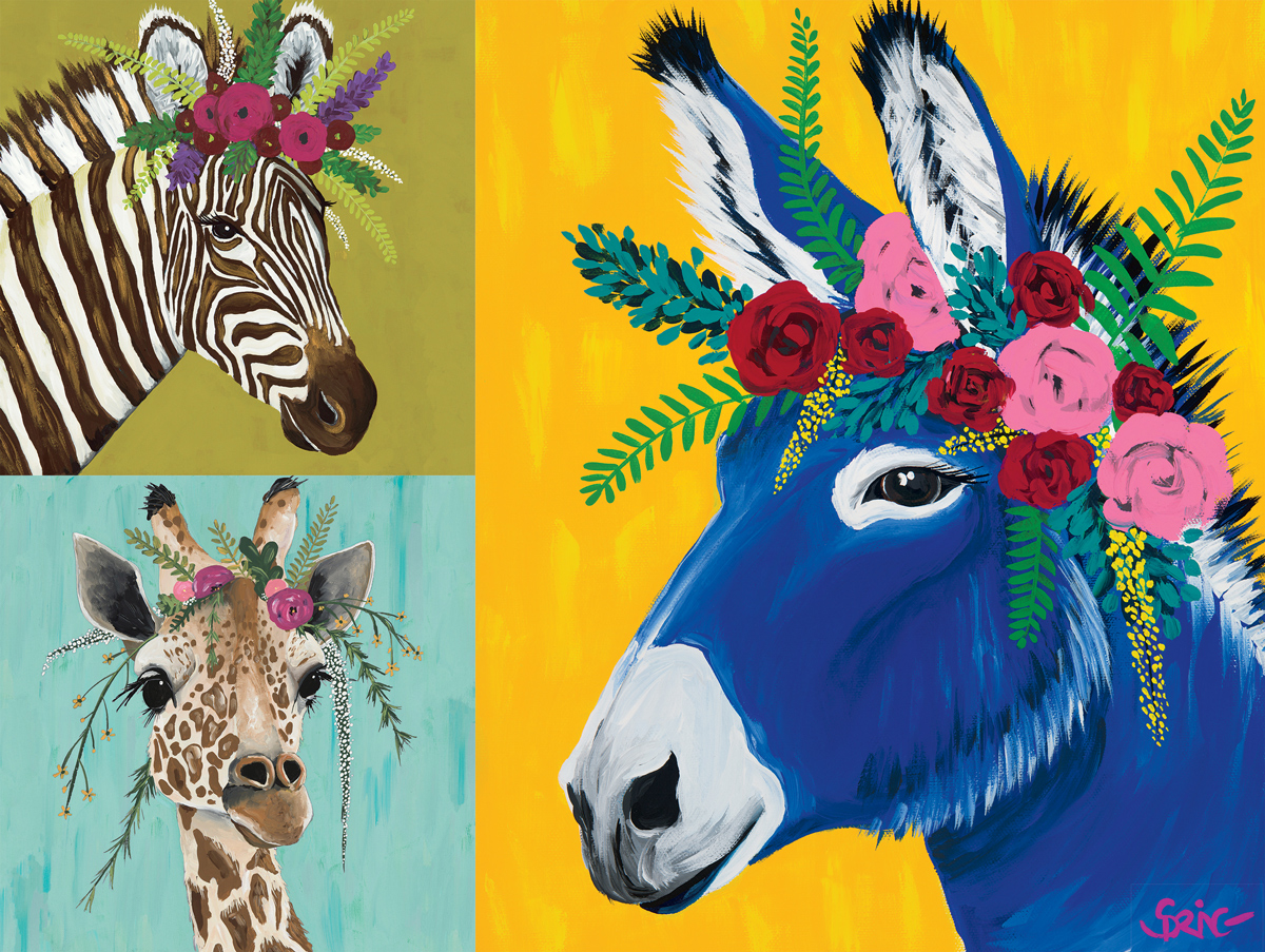 Astor, Daisy and Jose Animals Jigsaw Puzzle