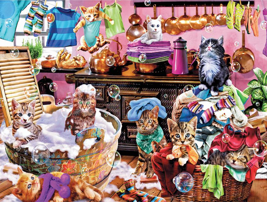 Kittens In The Kitchen (Paws Gone Wild) Jigsaw Puzzle