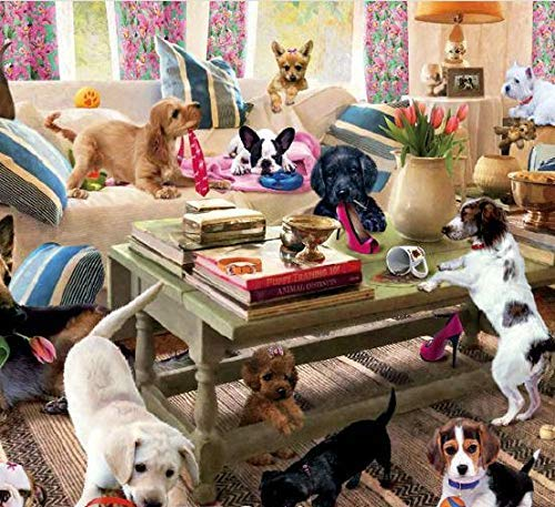 Living room Rompers Dogs Jigsaw Puzzle