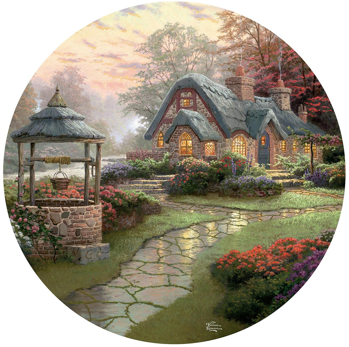 Make a Wish Cottage Garden Shaped Puzzle