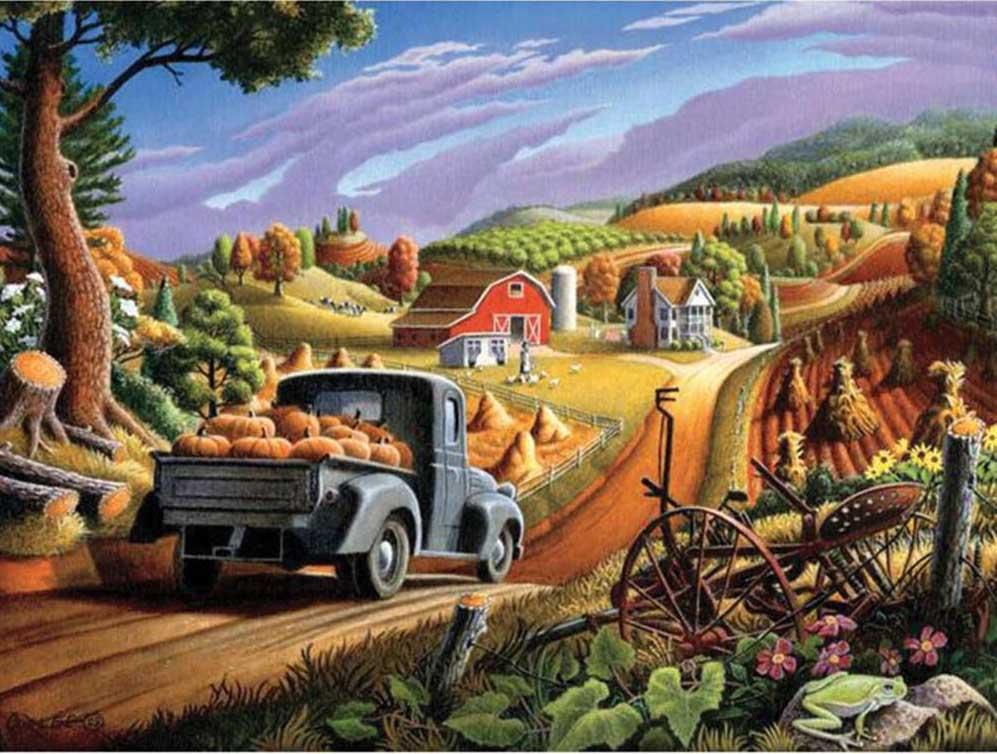 Pumpkins Farm Jigsaw Puzzle
